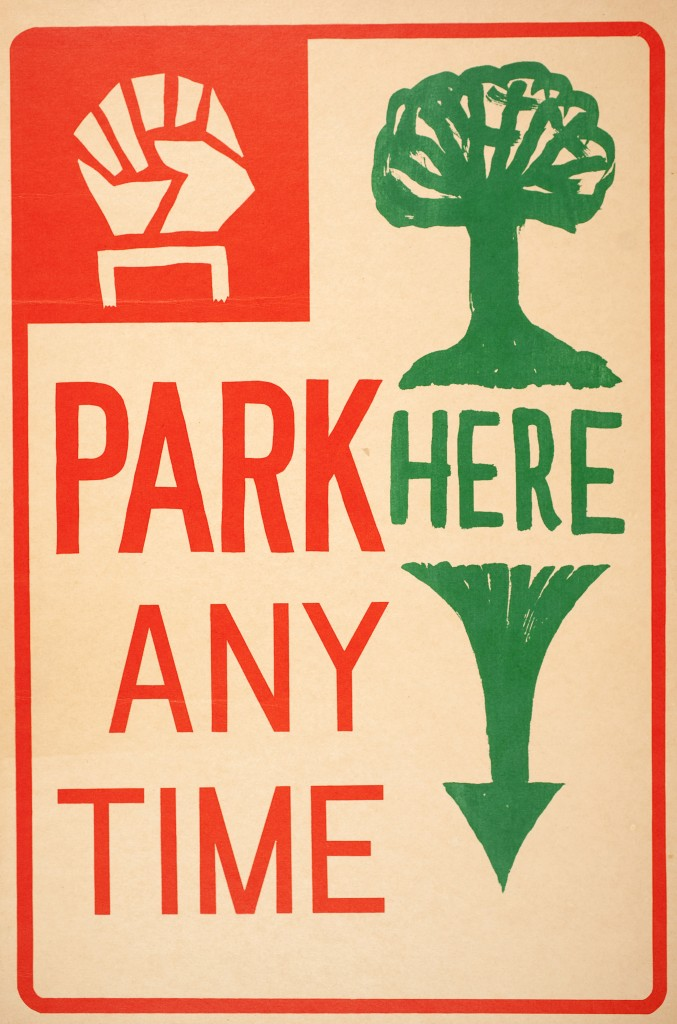 People's Park sign, late 1960s, S.F.